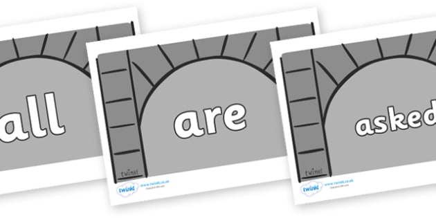 Tricky Words on Crypts - Tricky words, DfES Letters and Sounds, Letters and sounds, display, words