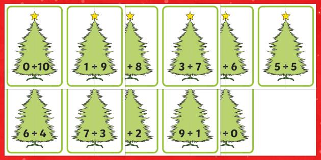 Christmas Tree Number Bonds to 10