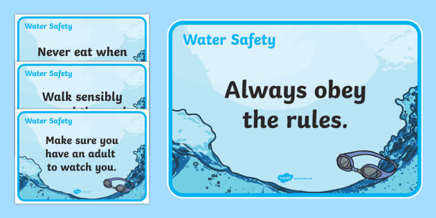 Water Safety Posters - water safety, water, safety, posters, display