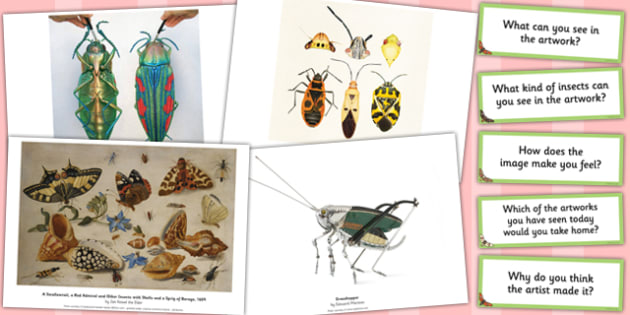 Looking at Insect Art Photopack and Prompt Questions - prompt