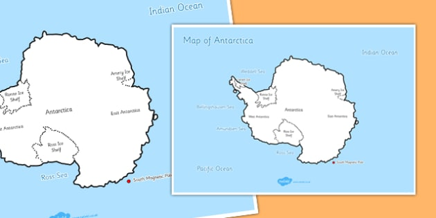Map of Antarctica - map, antarctica, map of antarctica, geography, display, poster