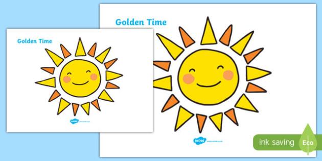 Golden Time Giant Display Sun - Golden time, sun, golden rules, golden time display, rules, behaviour, golden rule, rule, classroom rules, behaviour management