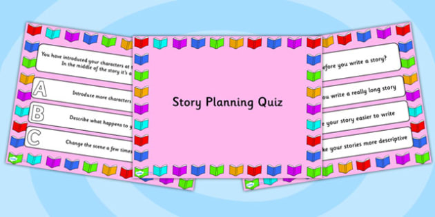 Story Planning PowerPoint Quiz - story planning, powerpoint, quiz