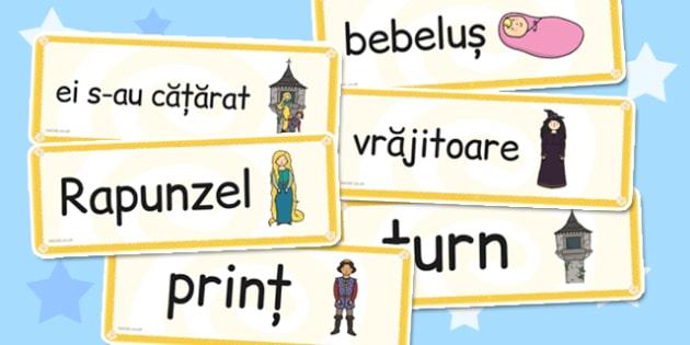 Rapunzel, Cartonase cu imagini si cuvinte din poveste, Romanian