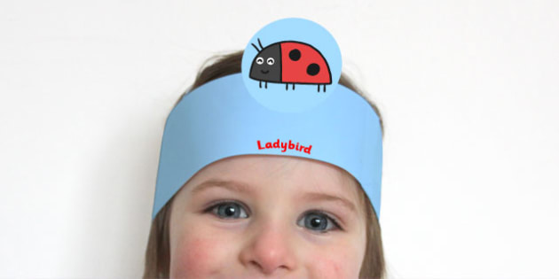 Role Play Headbands to Support Teaching on What the Ladybird Heard - roleplay, props