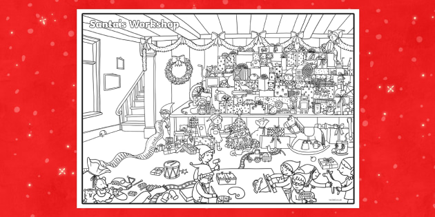 Crazy Christmas Colouring Challenge