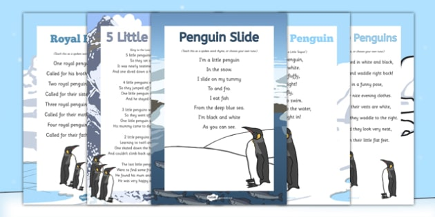 Penguin Songs and Rhymes Pack - Antarctic, Polar, Penguin, songs, rhymes, pack