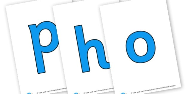Phonics Wall Lettering - Literacy Phonics Primary Resources -  & English Primary Resources