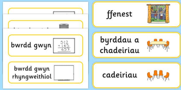 Labelu Offer Dosbarth Cymraeg - welsh, cymraeg, labelu, offer, dosbarth