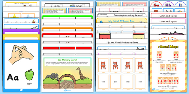 Teaching Assistant Speech and Language Resource Pack - pack