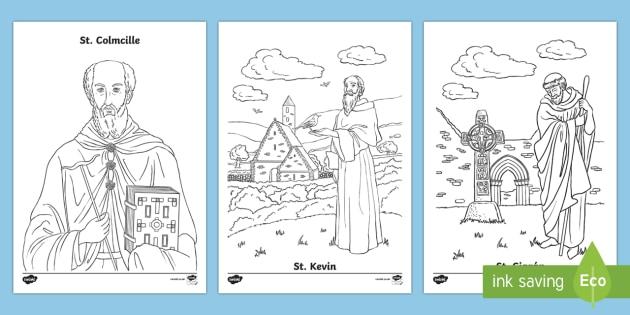 Irish Saints Colouring Pages - Ireland, The Land of Saints and Scholars,early christian Ireland,Irish saints, monastic Ireland, St