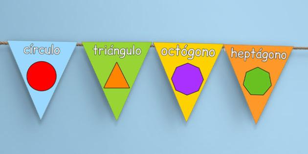 2D Shape Display Bunting Spanish - spanish, 2d shape, display bunting, display, bunting