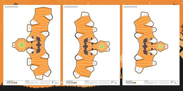 Enkl 3D Halloween Pumpkin Patch Printables - enkle, printable, model, paper model, paper, craft, activity, 3d, halloween, pumpkin patch