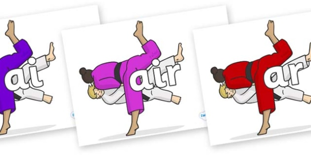 Phase 3 Phonemes on Judo - Phonemes, phoneme, Phase 3, Phase three, Foundation, Literacy, Letters and Sounds, DfES, display