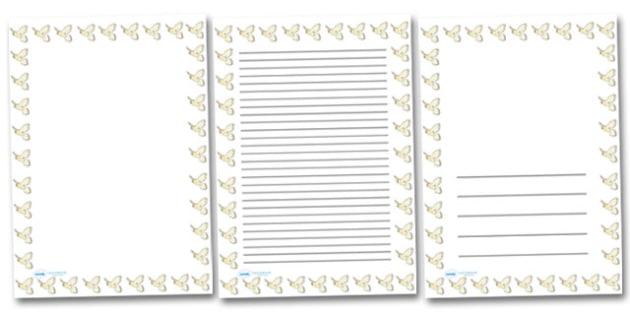 Kestrel Portrait Page Borders- Portrait Page Borders - Page border, border, writing template, writing aid, writing frame, a4 border, template, templates, landscape