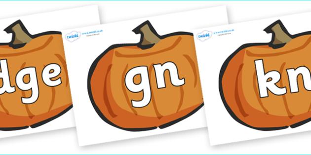 Silent Letters on Pumpkins - Silent Letters, silent letter, letter blend, consonant, consonants, digraph, trigraph, A-Z letters, literacy, alphabet, letters, alternative sounds