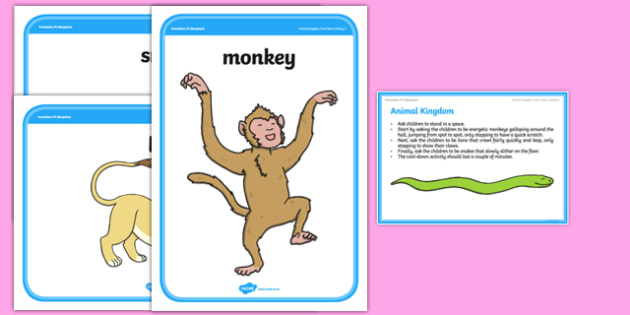 Foundation PE (Reception) Animal Kingdom Cool-Down Activity Card - physical activity, foundation stage, physical development, games, dance, gymnastics