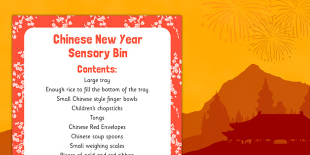 Chinese New Year Sensory Bin - chinese new year, sensory bag, sensory, bin, new year