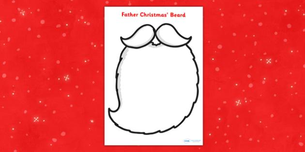 Father Christmas Role Play Beard -  Christmas, father christmas, beard, role play, play, xmas, Happy Christmas, tree, advent, nativity, santa, Jesus, tree, stocking, present, activity, cracker, angel, snowman, advent