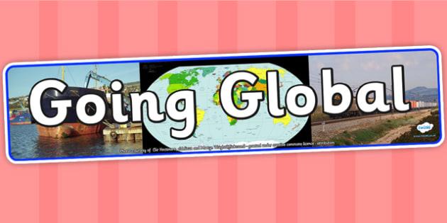 Going Global IPC Photo Display Banner -going global, IPC display banner, IPC, going global display banner, IPC display, going global IPC banner