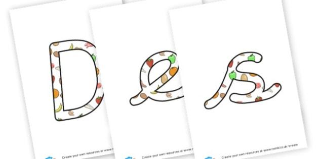 Design Technology Lettering - KS2 Design and Technology Primary Resources, Design and Technology