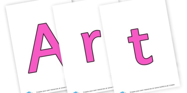 Art Lettering - Creative Area Primary Resources, sign, area, zones, banner, poster