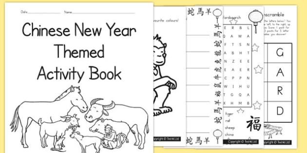 Chinese New Year Themed Activity Book - australia, chinese, book