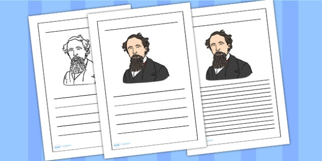 Charles Dickens Writing Frame - charles dickens, writing frame, writing template, writing guide, writing aid, line guide, writing guide, themed writing aid, aids