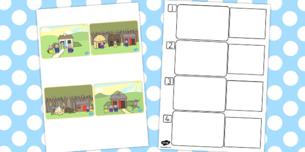 The Three Little Pigs Story Sequencing SEN - australia, story