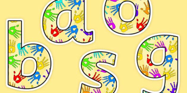 A4 Handprint Display Lettering - handprint, display, lettering, display lettering, display, display words, letters, hands, lettering for display