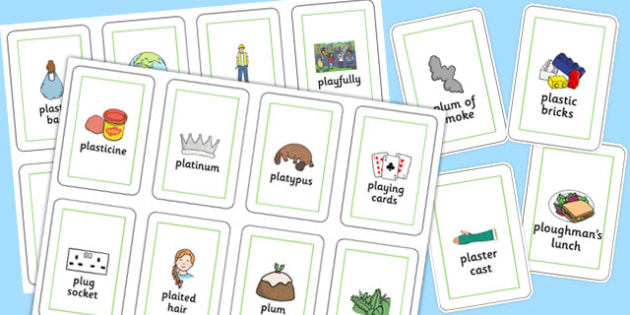Three Syllable PL Sound Flash Cards - sen, sound, special educational needs, pl, flash cards