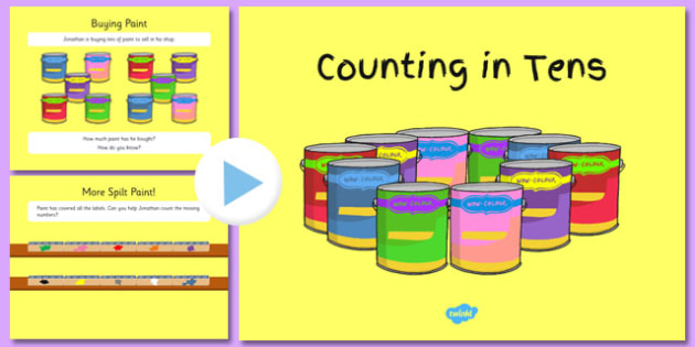 Counting in Tens PowerPoint - counting, tens, powerpoint, count