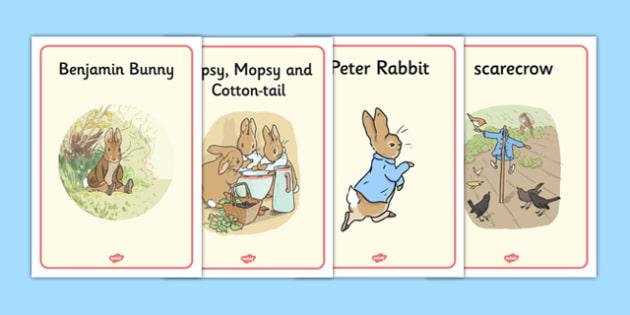 Beatrix Potter - The Tale of Benjamin Bunny Display Posters - beatrix potter, benjamin bunny