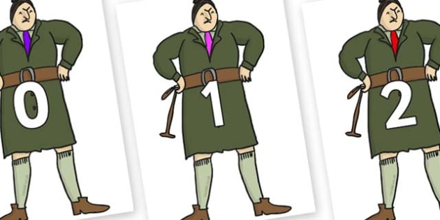 Numbers 0-100 on Mrs Trunchbull to Support Teaching on Matilda - 0-100, foundation stage numeracy, Number recognition, Number flashcards, counting, number frieze, Display numbers, number posters