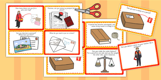 Challenge Cards Post Office - challenge cards, post office, post