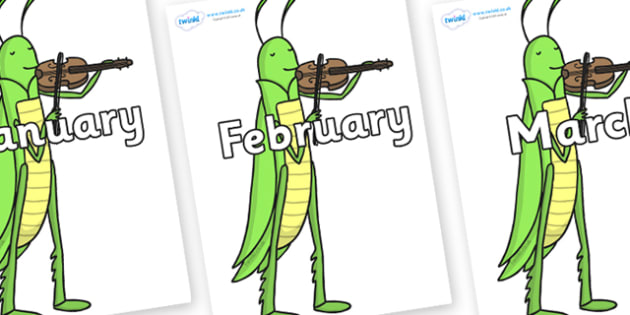 Months of the Year on Grasshopper - Months of the Year, Months poster, Months display, display, poster, frieze, Months, month, January, February, March, April, May, June, July, August, September