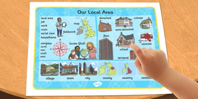 Our Local Area Word Mat - local, area, word, mat, word mat, our