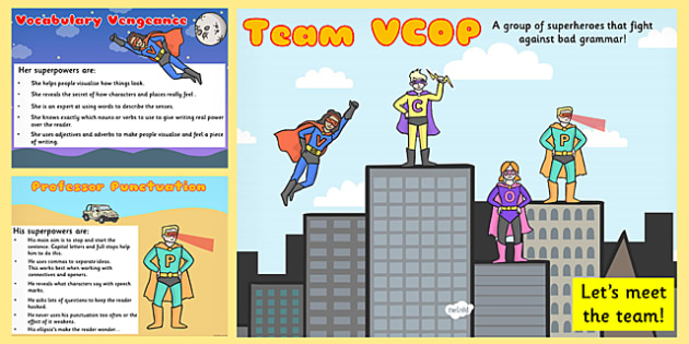 VCOP Superheroes PowerPoint - VCOP, superhero, powerpoint, VCOP powerpoint, superheroes powerpoint, discussion starters, discussion prompt, games
