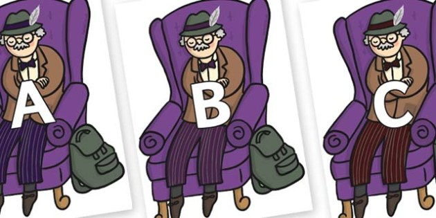 A-Z Alphabet on Beautys Dad Sat - A-Z, A4, display, Alphabet frieze, Display letters, Letter posters, A-Z letters, Alphabet flashcards