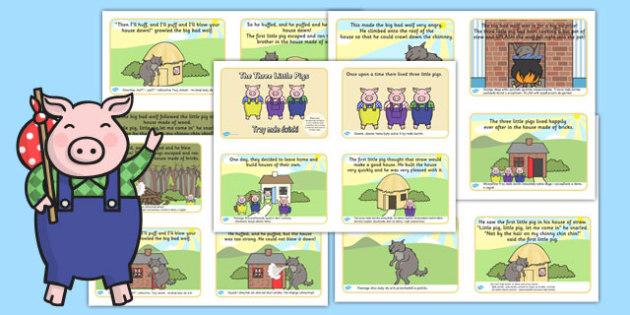 The Three Little Pigs Story 4 per A4 Text Polish Translation - polish