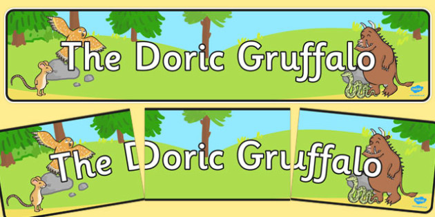 The Doric Gruffalo Display Banner - cfe, doric, gruffalo, display banner, display, banner