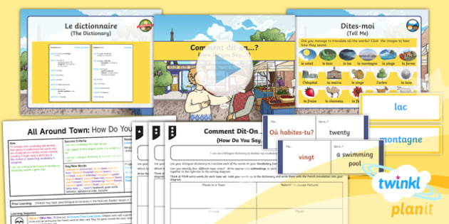 PlanIt - French Year 4 - All Around Town Lesson 6: How Do You Say? Lesson Pack - french, languages,dictionary, vocabulary