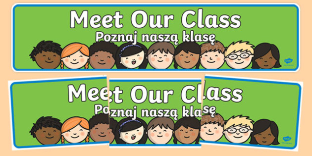 Meet Our Class Display Banner Polish Translation-Polish-translation