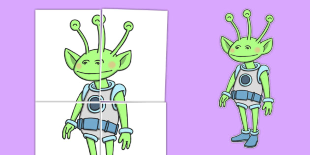 Large Alien Display Cut-Out - large, alien, display, cut out, alien display, display cut out