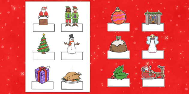 Editable Christmas Labels - christmas, labels, editable labels