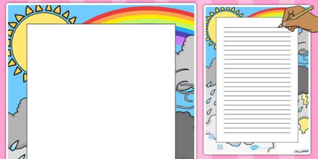 Weather Decorative Page Border - weather, decorative, page border