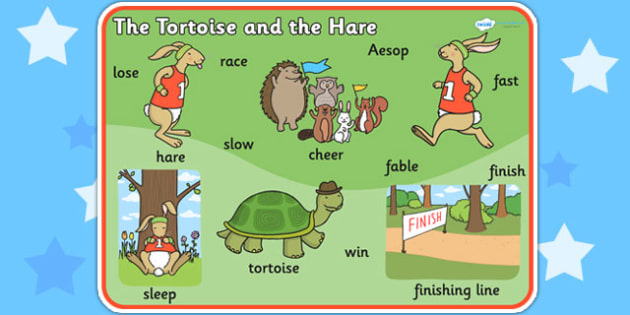 The Tortoise and The Hare Word Mat - visual aid, writing aid
