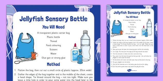 Jellyfish Sensory Bottle - jellyfish, sensory bottle, sensory, bottle, eyfs, early years