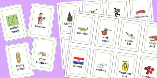 Three Syllable CR Playing Cards - three syllable, cr, playing cards, play, cards, cr sound