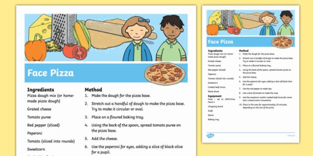 Face Pizza Recipe